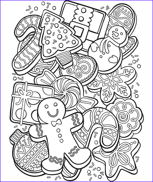Cookie Cookie Coloring Page Luxury Photos Christmas Cookie Collage Coloring Page