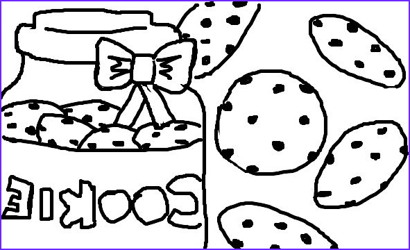 Cookie Cookie Coloring Page New Gallery Chocolate Chip Cookie Coloring Page