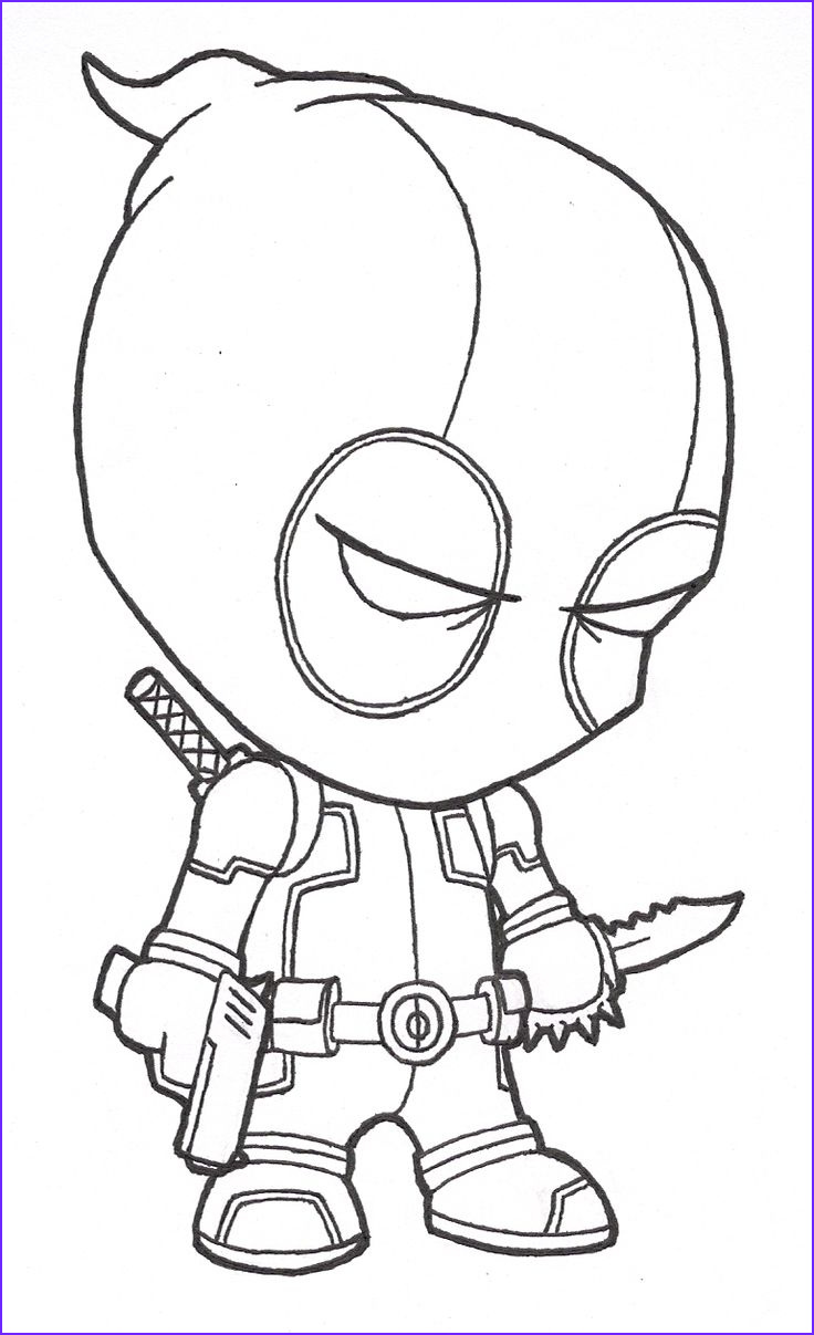 Cool Easy Coloring Page Cool Gallery Drawings Cool Drawings Cool Drawings Of Deadpool