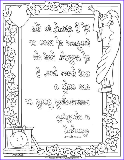 Corinthians 13 Coloring Page Beautiful Image Coloring Pages for Kids by Mr Adron Printable 1