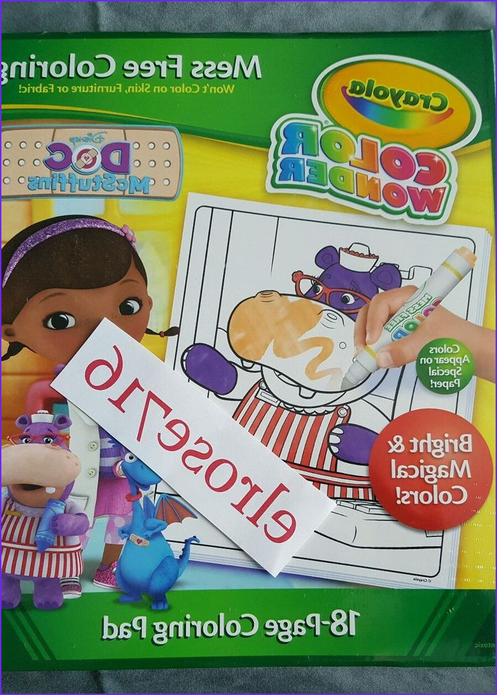Crayola Mess Free Coloring Beautiful Images Crayola Color Wonder Doc Mcstuffins 18 Page Mess Free