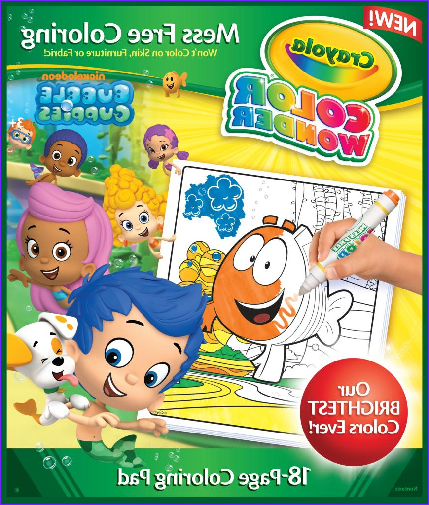 Crayola Mess Free Coloring Luxury Stock Book Crayola Bubble Guppies Color Wonder Refill New