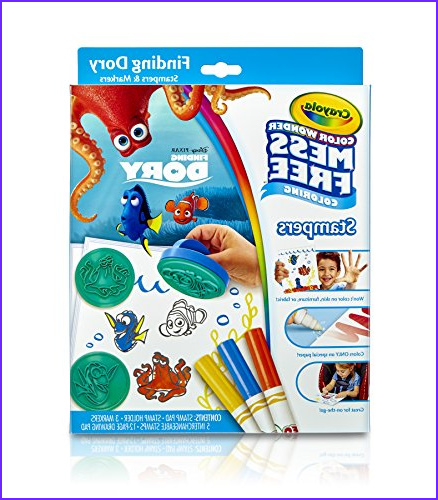Crayola Color Wonder MessFree Coloring Finding Dory Stampers Art Tools Markers Paper Stamps Great for Travel ap B01LWI3ZE0