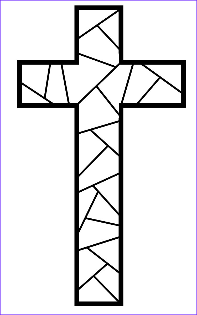 Cross Templates for Coloring Cool Photos How to Make Stained Glass Easter ornaments Kids Crafts