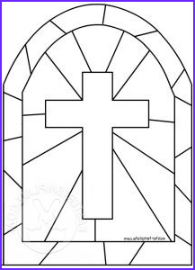 breathtaking stained glass cross coloring page religious easter template part 2 filed under printable for