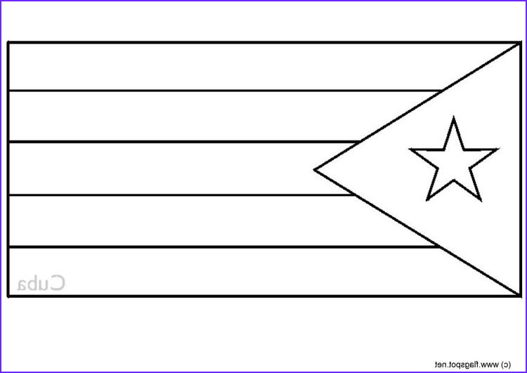 coloring page flag cuba i6325