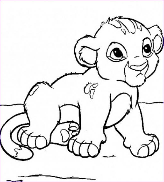 Cubs Coloring Page Beautiful Collection Lion Cub Baby Animals Coloring Page Free To Print