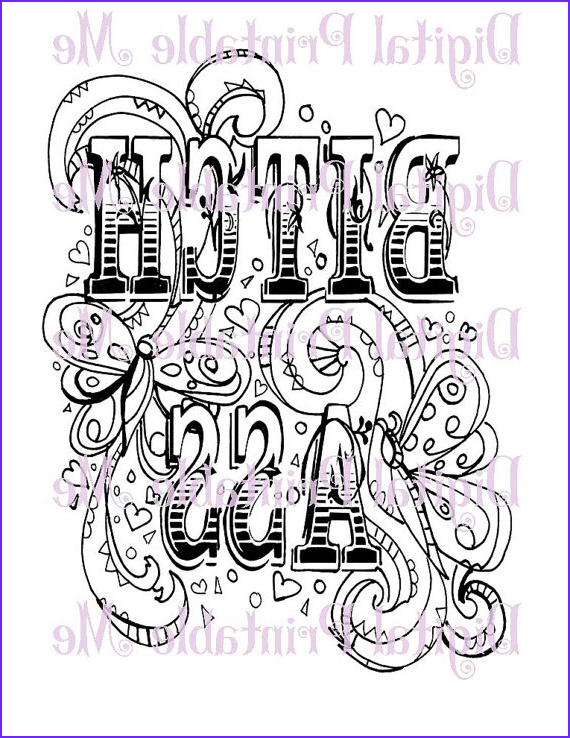 Cursing Adult Coloring Book Elegant Gallery Swear Word Coloring Book Page Printable by