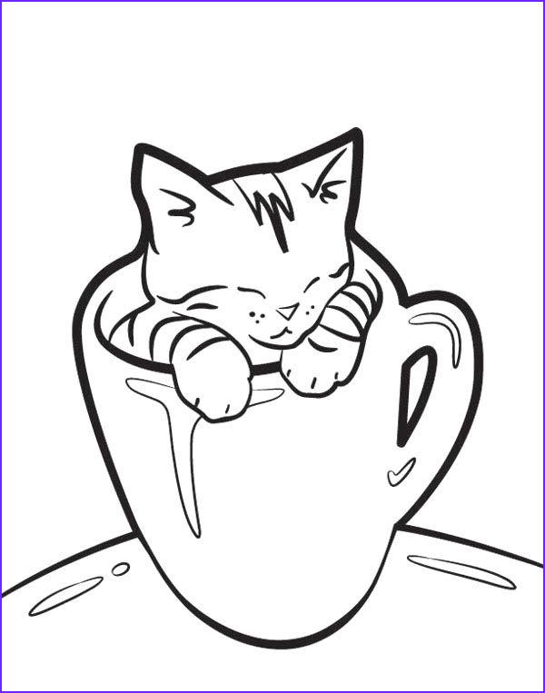 Cute Cat Coloring Picture Inspirational Stock the Glass Cat Coloring Page Coloring Pages