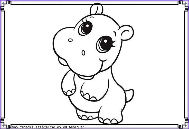baby cow sketch templates