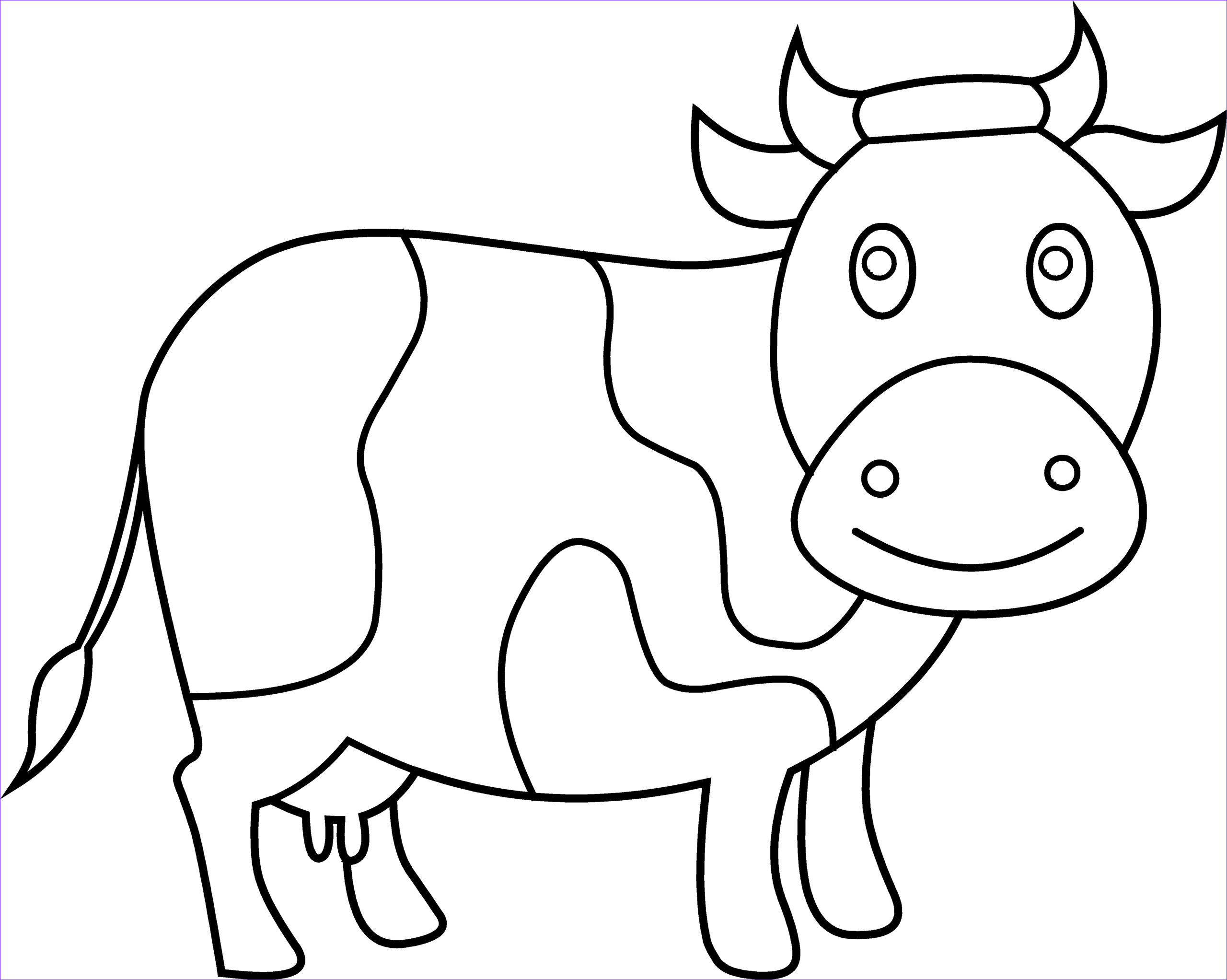 cute cow coloring page 1812