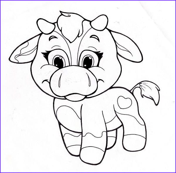 Cute Cow Coloring Page Cool Images Image Detail For Coloring Page With Cute Cow Cow Line Art