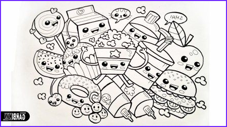 Cute Food Coloring Sheet Cool Image Cute Kawaii Food Coloring Pages In 2019