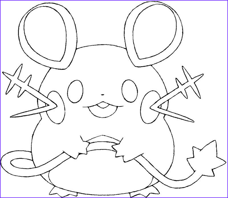 Dedenne Coloring Page Cool Image Dedenne ♡ Coloring Pages ♡