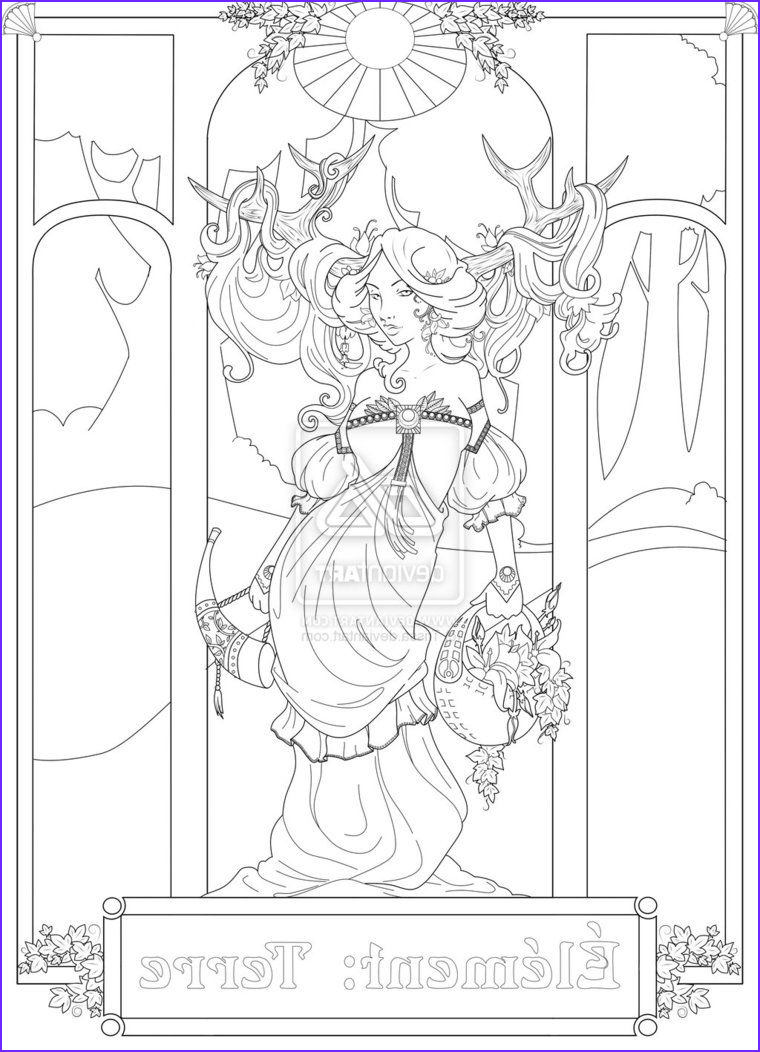 Deviantart Coloring Page Beautiful Stock Element Earth by Trissa Deviantart
