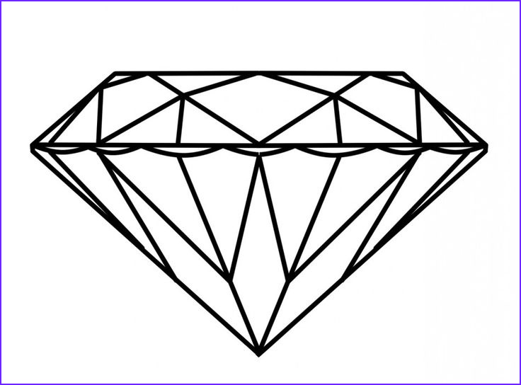 Diamonds Coloring Page Cool Collection Diamond Ring Coloring Page