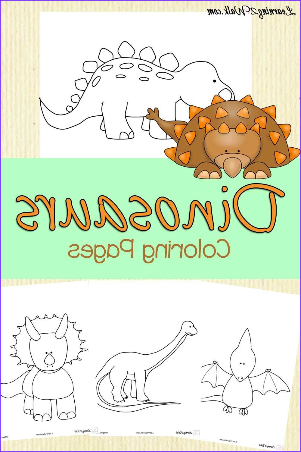 Dinosaur Coloring Page Preschool Inspirational Stock Dinosaurs Coloring Pages Printables