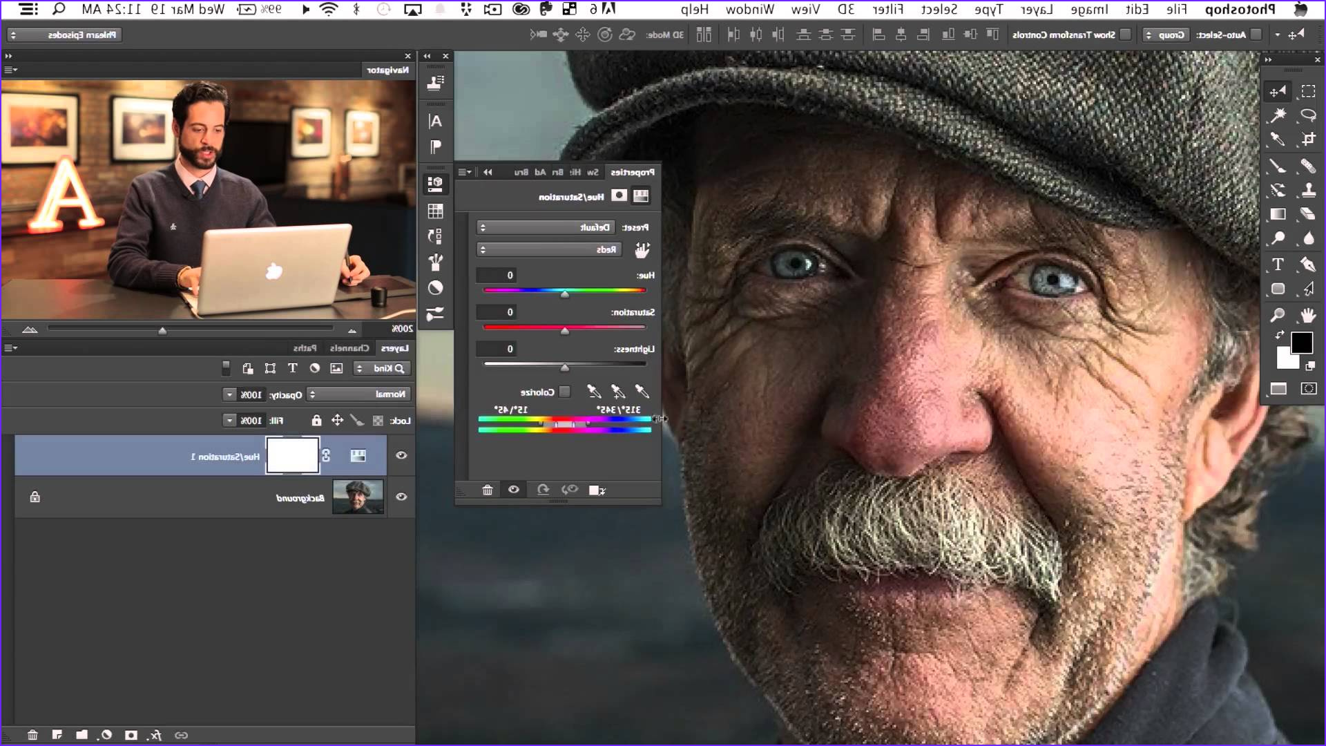 how to quickly correct red skin color in photoshop