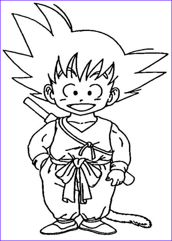 little goku in dragon ball z coloring page