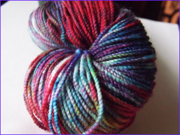 how to tie dye yarn with food coloring