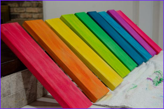 Dying Wood With Food Coloring Luxury Photos Diy Rainbow Rocker With Template Pdf Wood Dyed With