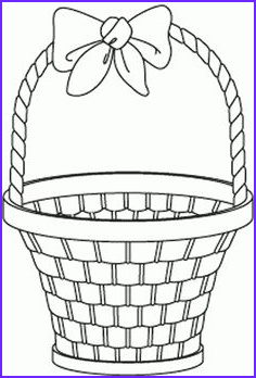 Easter Egg Basket Coloring Page Elegant Photos Easter Preschool Basket Cut Out