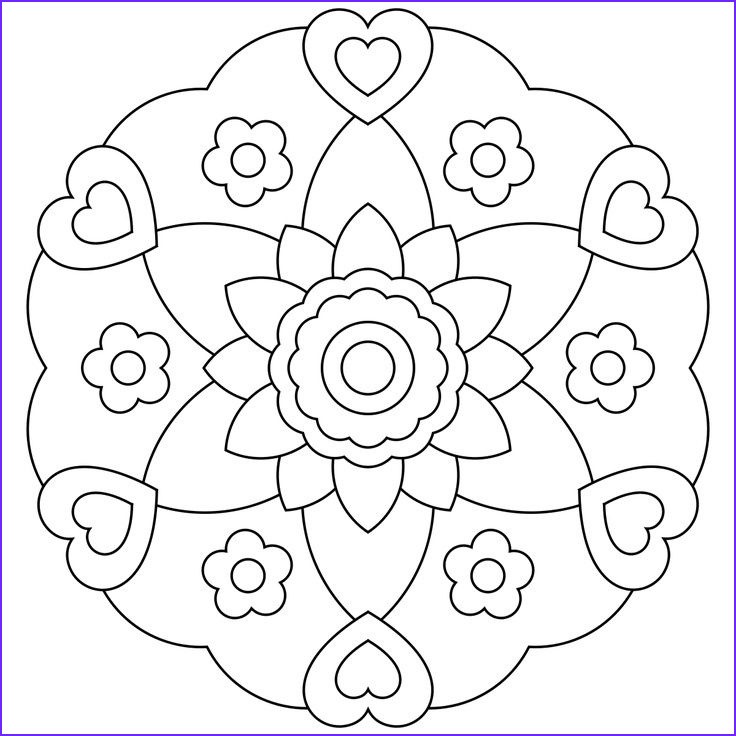 Easy Adult Coloring Book Cool Images Mandala Coloring Pages For Kids