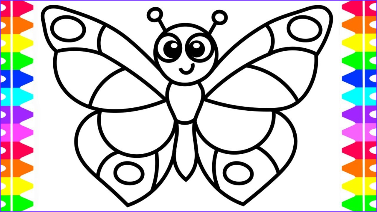 Easy Coloring Page for toddlers Best Of Photos Learn How to Draw A butterfly Easy Coloring Pages for