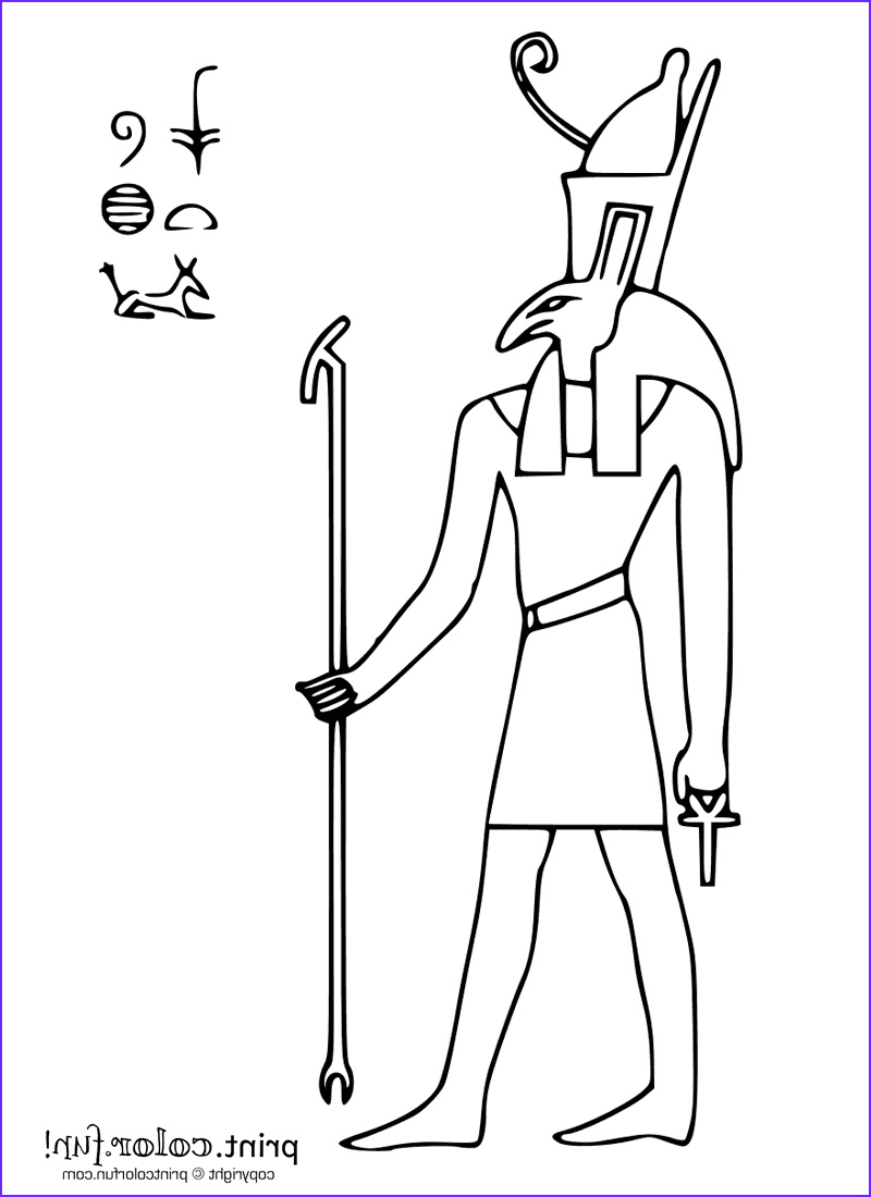Egyptian Gods Coloring Page Beautiful Images Egyptian God Seth Coloring Page Print Color Fun