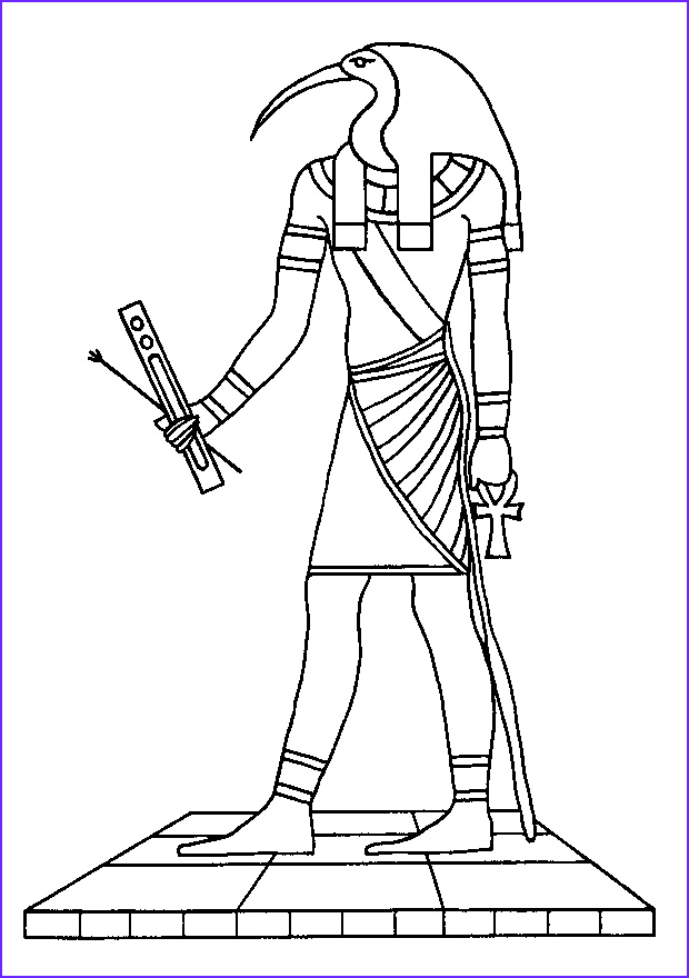 Egyptian Gods Coloring Page Best Of Stock Egyptian Mythology 8 Gods And Goddesses – Printable