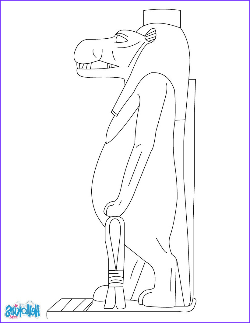 Egyptian Gods Coloring Page Inspirational Photos Taweret Egyptian Goddess for Kids Coloring Pages