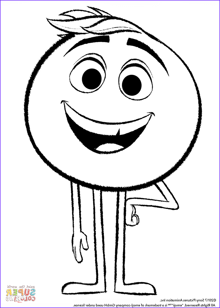 Emoji Coloring Page Free Printable Best Of Photos Gene From Emoji Movie Coloring Page