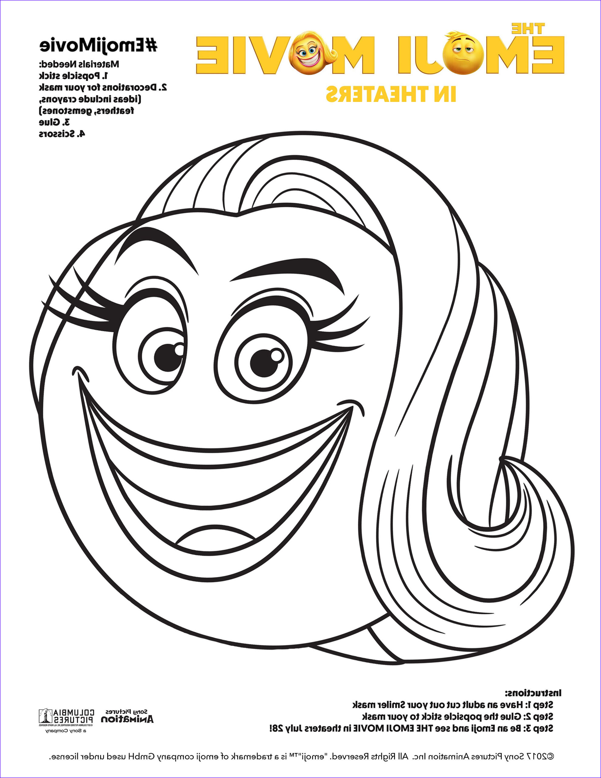 emoji movie fun going coloring pages