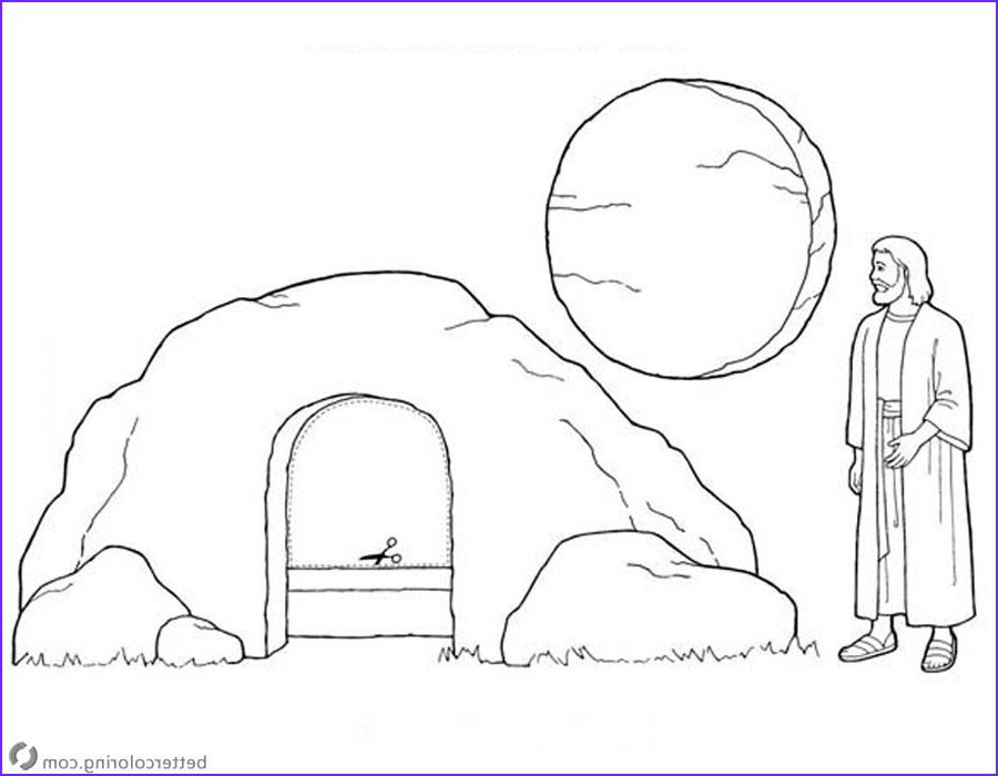 empty tomb cloring pages jesus is risen easter coloring pages