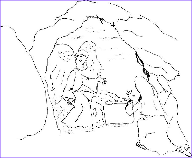 Empty tomb Coloring Page New Photos Easter Coloring Pages Empty tomb Religious