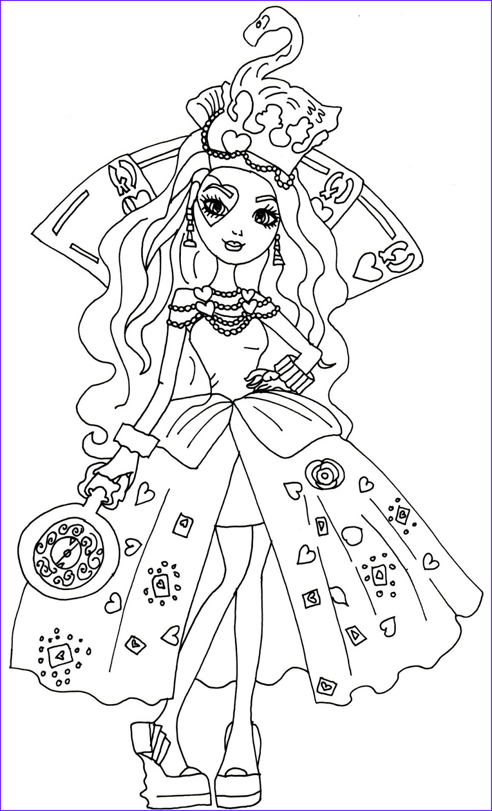 Ever After High Coloring Book Unique Image Free Printable Ever After High Coloring Pages Lizzie