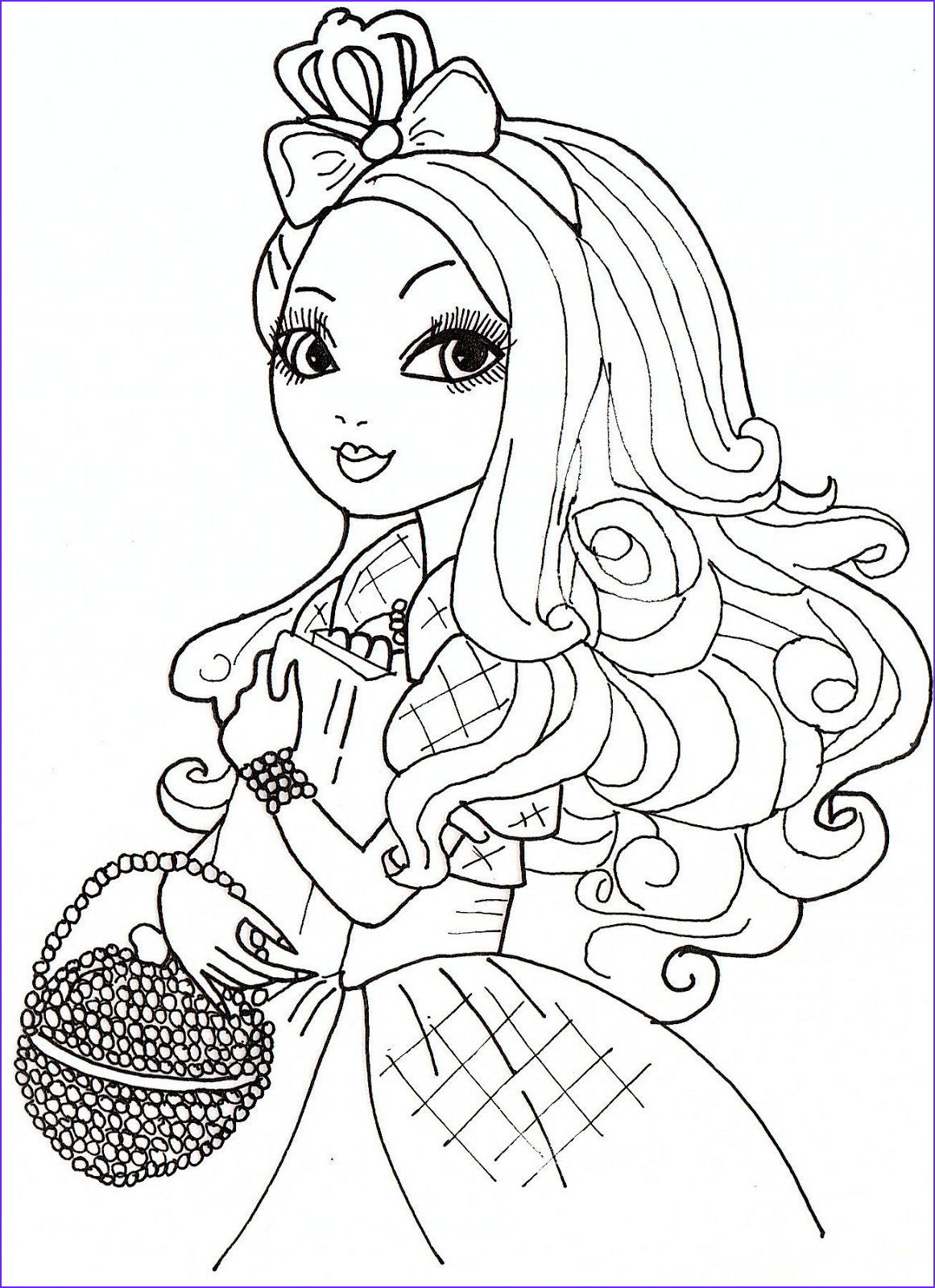 apple white coloring sheet