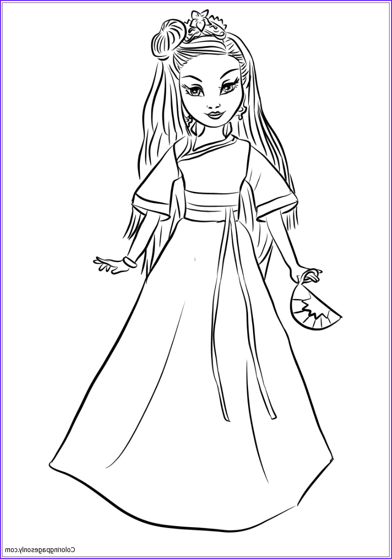 Evie Coloring Page Elegant Photography Evie Descendants Drawing at Getdrawings