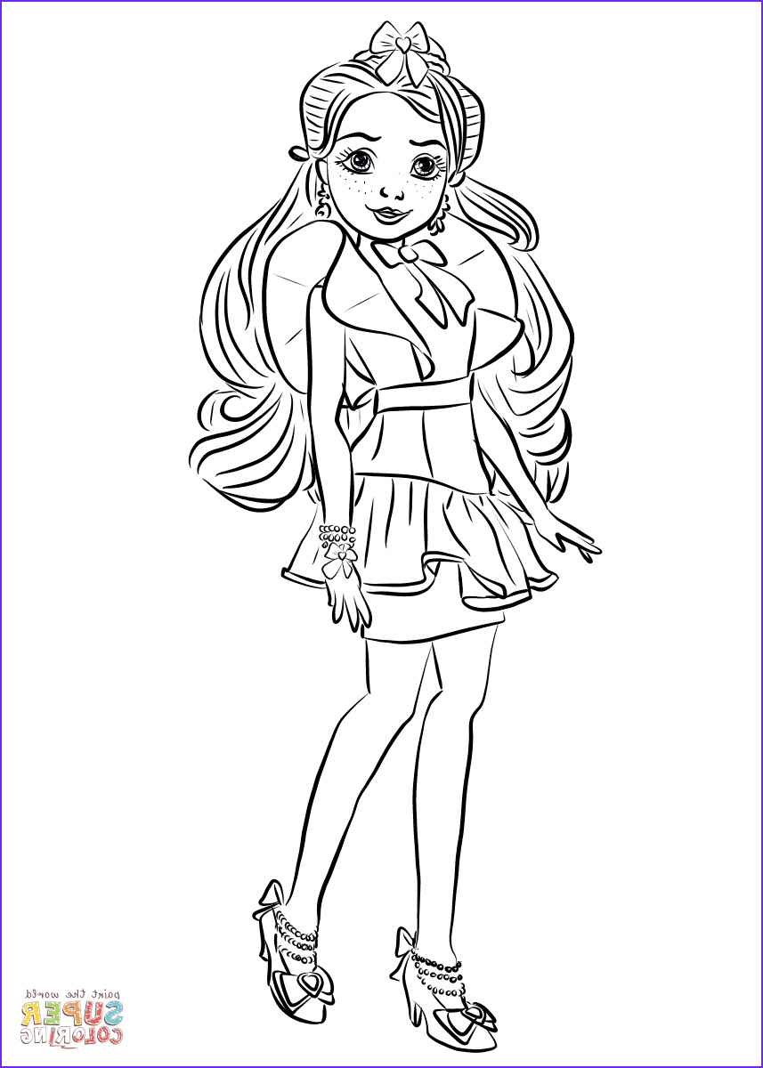 Evie Coloring Page Elegant Photography Jane From Descendants Wicked World Coloring Page