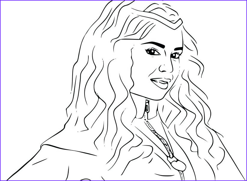 Evie Coloring Page Luxury Stock Descendants Evie Coloring Pages at Getcolorings