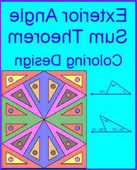 Exterior Angle theorem Coloring Activity Awesome Photos Exterior Angles Angles and Coloring On Pinterest