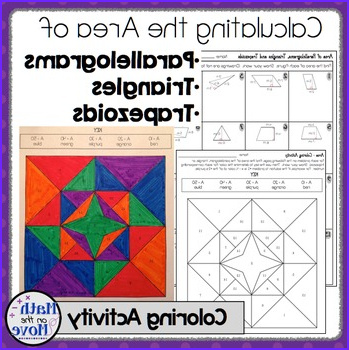 Area of Parallelograms Triangles and Trapezoids Coloring Activity