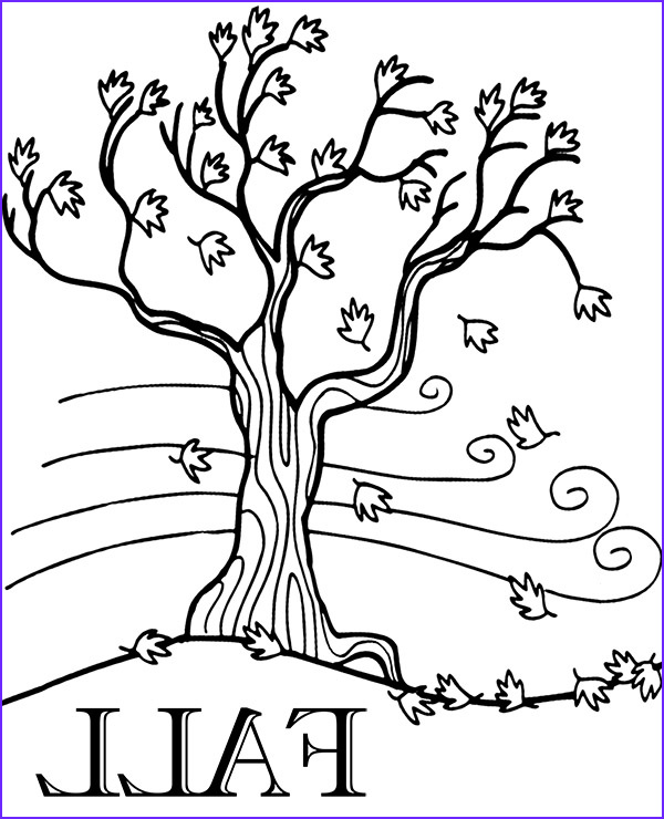 Fall Leaves Coloring Page Printable Luxury Image Fall Printable Coloring Page with Tree and Leaves Falling