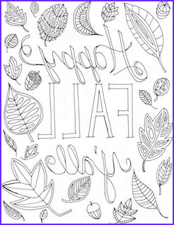 Fall Leaves Coloring Page Printable Luxury Images Happy Fall Y All Coloring Page
