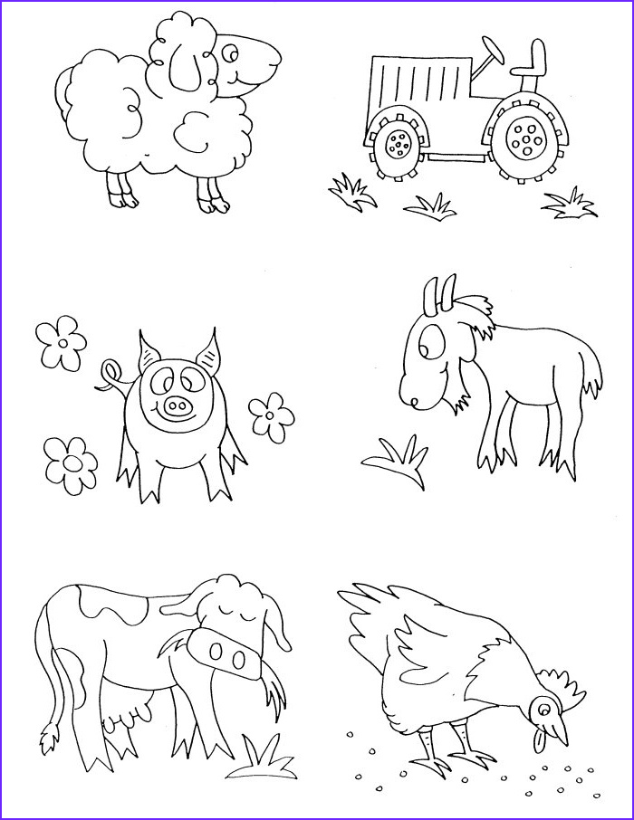 Farm Animals Coloring Awesome Gallery Farm Animals Coloring Pages Free Printable