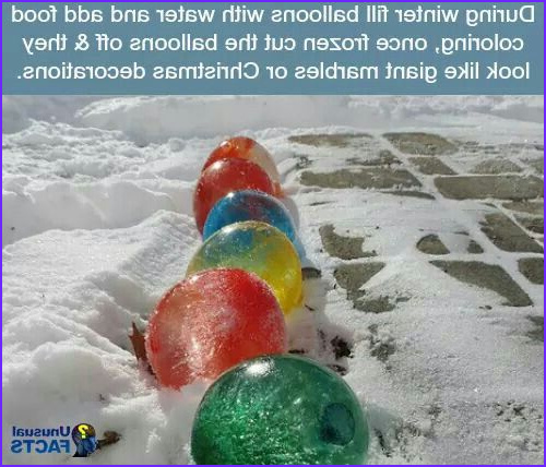 Food Coloring Water Balloons Inspirational Photography Giant Christmas Balls Made From Frozen Water Balloons with