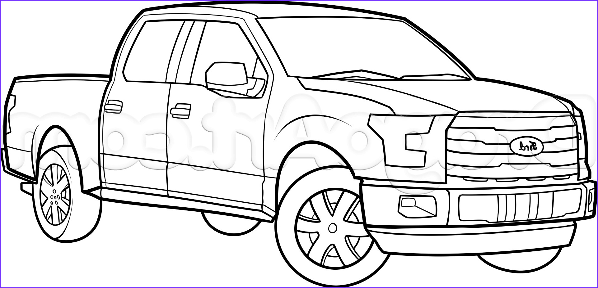 how to draw an f 150 ford pickup truck