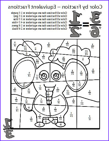 Fractions Coloring Sheet Beautiful Photos Color by Fractions Kaylee S Education Studio