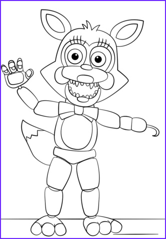 Freddy Fazbear Coloring Page Unique Images Mangle From Five Nights at Freddy S Coloring Page