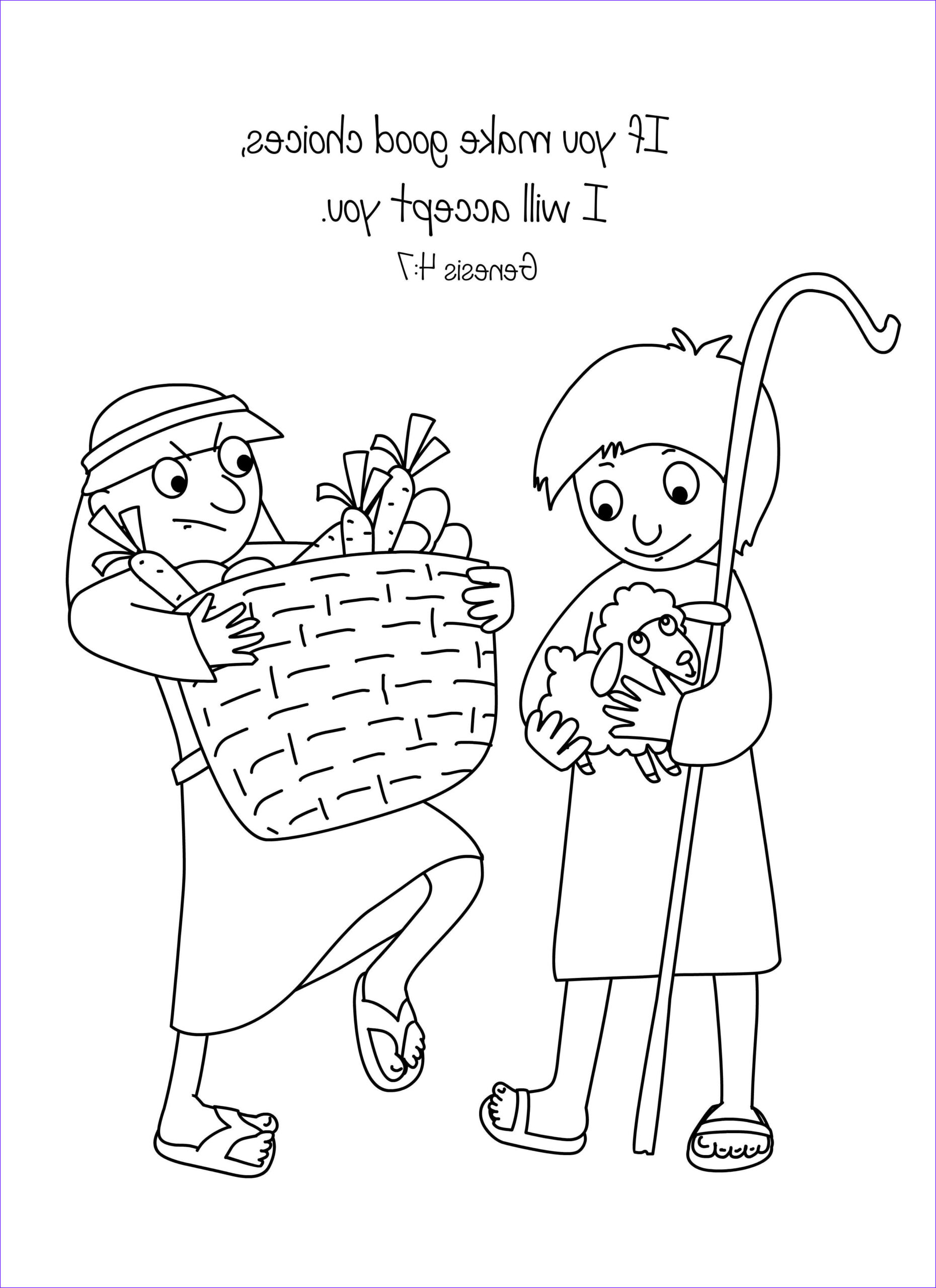 Free Bible Story Coloring Page Cool Gallery Free Bible Coloring Page Cain and Abel